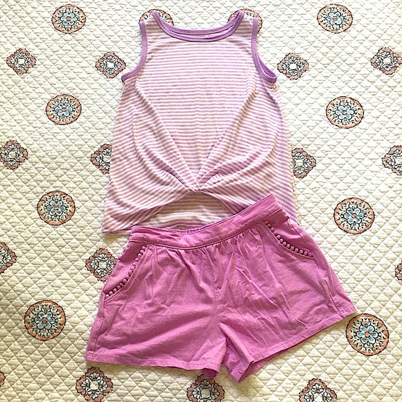 Girls Purple Tank & Shorts